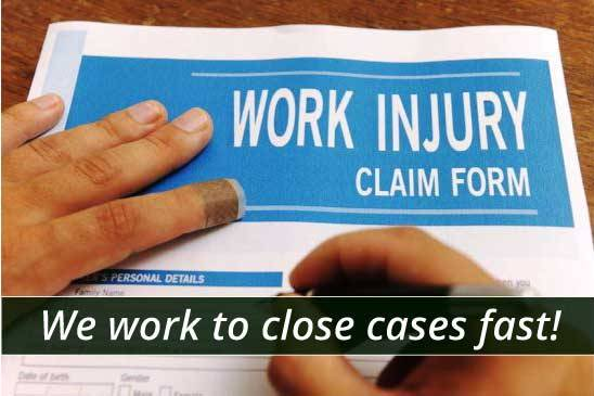 We work to close workers compensation claims fast and efficiently.
